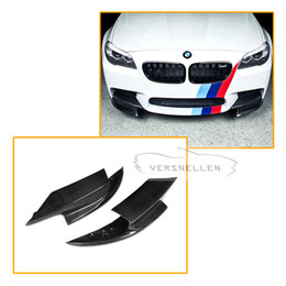 $enCountryForm.capitalKeyWord Australia - Car styling Carbon Fiber Car Front Divider Lip Flap Cupwings Side aprons For BMW 5 Series 528i F10 M5 Bumper Splitter 2011-2017