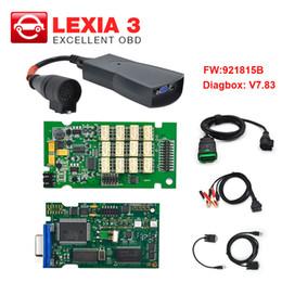 $enCountryForm.capitalKeyWord Australia - Lexia3 PP2000 V48 V25 For Citroen Peugeot Diagbox V7.83 Lexia 3 with 921815B Normal chip OBD2 Professional Diagnostic Tool