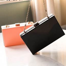 $enCountryForm.capitalKeyWord Australia - New Acrylic Transparent Women Shoulder Bags Hard Day Clutches Bags Wedding Party Evening Purse Clutch Chain Box