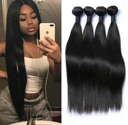 Dyeable human hair extensions online shopping - Brazilian Human Hair Extension Malaysian Peruvian Cambodian Unprocessed Virgin Straight Hair Bundles Dyeable A Human Hair Weave