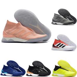 Vente en gros 2019 nouvelle arrivée chaussures de football pour hommes chaussures de soccer PP Predator Tango 18+ TR augmenter chaussures de football en salle Tacos de futbol vente chaude