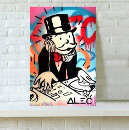 Modern Art Canvas Print Australia - Alec Monopoly The DJ Handpainted & HD Print Modern Abstract Graffiti Art Oil Painting On Canvas Wall Art Home Office Deco High Quality g159