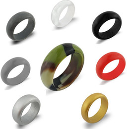 bulk celtic rings UK - New Silicone Wedding Rings Women Men Hypoallergenic O-ring Band Comfortable Lightweigh Ring for Couple Fashion Design Jewelry in Bulk