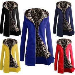 $enCountryForm.capitalKeyWord NZ - Fashion Womens Ladies Stylish Lined Leopard Printing Winter Warm Thicken Casual Long Hooded Coat Jacket Parka Overcoat Outwear