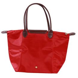 Stylish Ladies Handbags Australia - Women's Stylish Handbag Waterproof Zipper Tote Bag Nylon Travel Shoulder Beach Messenger Bags Ladies Shopping Fold Bag Casual