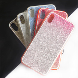 $enCountryForm.capitalKeyWord Australia - For iphone xs max phone case Two-color material transparent soft edge Shiny back cover Support 10PCS delivery