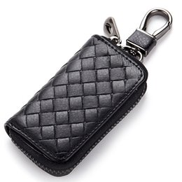 Wholesale 2019 New Knitting Unisex Car Key Holder Purses Daily Use Male Wallet For Keys Portable Wallets Women Weave Housekeeper Wallet