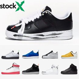 Wholesale paras plastic for sale – custom AirForce G Dragon Peaceminusone Para Noise Air Sport Force One Red ARTIST Korea Skeleton exclusive Black White Men Running Shoes