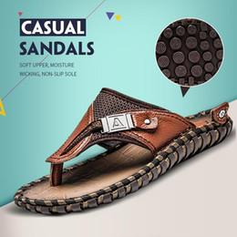 $enCountryForm.capitalKeyWord Australia - 2019 Luxury New Quality Leather Non-slip Slippers Men Beach Sandals Comfortable Summer Shoes Classic Fashion Men Flip Flops 1.8a