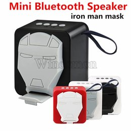 plastic phone holders Australia - mini bluetooth iron man mask speaker phone holder portable wireless speaker support TF card U disk FM radio wireless speakers