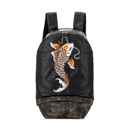 new backpacks Australia - Summer New stylist Backpack Fashion Outdoor Backpack Men Women Embroidery Pattern stylist Bags School Backpack Sport Bag