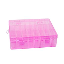 $enCountryForm.capitalKeyWord Australia - Fashion Make Up Tools Comestic Bags Cases 24 Slots Plastic Transparent Adjustable Jewelry Storage Box Organizer
