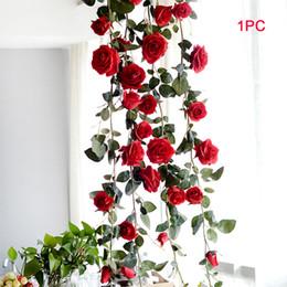 $enCountryForm.capitalKeyWord Australia - 180 Cm Hanging Garland Leaves Silk Wedding Plant Vine Artificial Flower Rose Decorative Real
