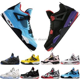 $enCountryForm.capitalKeyWord NZ - Fashion Newest Bred 4 4s What The Cactus Jack Laser Wings Mens Basketball Shoes Denim Blue Pale Citron Men Sport Designer Sneakers US 5.5-13
