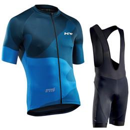 Northwave 2019 homens ciclismo jersey verão manga curta definir maillot bib shorts roupas de bicicleta sportwear camisa clothing terno nw venda por atacado