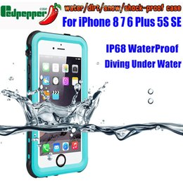$enCountryForm.capitalKeyWord NZ - Waterproof Case 6 Plus Se 5s Original Redpepper Dot Series Ip68 Diving Underwater Pc Tpu Cover For Iphone 7 8 Ise3 C19041301