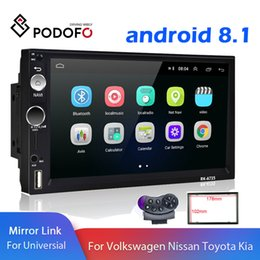 gps android 2din Australia - Podofo 2Din Car DVD Stereo Android Radio 7 inch GPS Navigation WiFi Auto Radio Bluetooth Video MP5 Player Support Rear View Camera