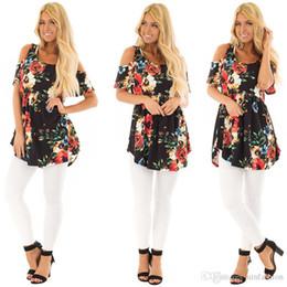 Off Shoulder Blouse Cotton Australia - New Style Bohemian Cotton Women Top Blouses Summer Blusa Off Shoulder Floral Print Shirts Cloth Plus Size