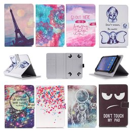 Lenovo tabLet cases covers online shopping - Printed Universal inch Tablet Case for Apple iPad Pro Cases kickstand PU Leather Flip Cover Case for iPad
