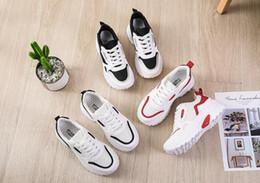 8a7c42360 Sapatilhas Femininas edição Coreana Harajuku primavera 2019 novo Sapatos  net vermelho pequeno branco papai sapatos femininos