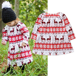 $enCountryForm.capitalKeyWord Australia - 2018 New Toddler Infant children Baby Girls Dresses clothes Christmas XMAS Cartoon Print Dresses Outfits Clothing princess dress