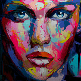 $enCountryForm.capitalKeyWord Australia - Hand painted Palette knife painting portrait Palette knife Francoise Nielly Face Abstract Oil painting Impasto figure on canvas Decor FN65