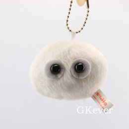 wholesale tiger shirts Australia - 10pcs or 1pc Fashion Keychains Cute Kawaii Anime Totoro White ghost Plush keychain pendant Women Kids Gift