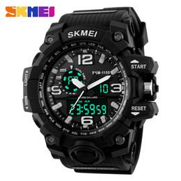 Men S Black Digital Watch Australia - New S Shock Men Sports Watches Big Dial Quartz Digital Watch For Men LED Military Waterproof Men Wristwatches