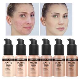 Beauty Concealer Australia - SEPORA Makeup Foundation Matte Liquid Foundation New Beauty LongWearing Waterproof Makeup Base Cosmetic Natural Concealer Foundation