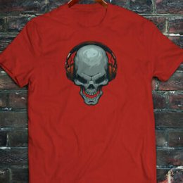 $enCountryForm.capitalKeyWord Australia - Design SCARY MUSIC DJ DEATH EDM TRAP LIT Mens Red T Shirt