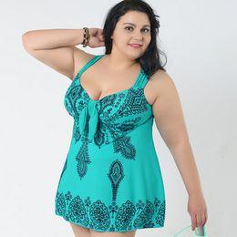 swimsuits women 6xl 2019 - 10XL Super big SIZE Tankini Plus Size Swimwear Women Fat Dress Large Sizes Swimsuit Skirt 5xl 6xl 7xl 8xl 2Pieces Bath S