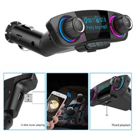 Gift car charGer online shopping - Smart Car bluetooth mp3 player double USB charger MP3 player music for car creative electric gifts luxury LCD display