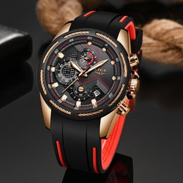 unique mens sport watches Canada - LIGE New Mens Watches Top Luxury Brand Men Unique Sports Watch Men's Quartz Date Clock Waterproof Wrist Watch Relogio Masculino V191115
