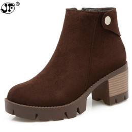 $enCountryForm.capitalKeyWord UK - big size 33-43 hot sale solid black ankle boots med heel round toe platform shoes high quality nubuck leather women boots 563