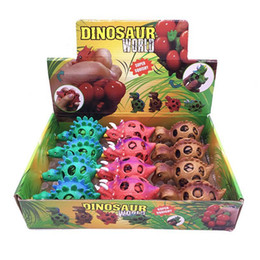 toy dinosaurs Australia - Anti Stress Dinosaur Ball Novelty Fun Splat Grape Venting Balls Squeeze Stresses Reliever Gags Practical Jokes Toy Funny Gadgets