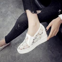 $enCountryForm.capitalKeyWord NZ - Designer Dress Shoes 2019 New Fashion Womens Casual Wedges Mesh Shoe Slip On Lady aa0773