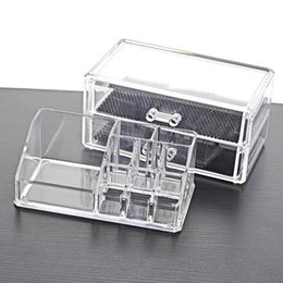 white rose stores Australia - 35# In store Transparent Home Drawer Desk Desktop Storage Box Organiser Acrylic Makeup Make Up Organizer Cosmetic 3 layer