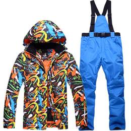 $enCountryForm.capitalKeyWord Australia - 2019 Winter Snow Jacket Ski Suit Women Snow Jacket And Pants Windproof Waterproof Graffiti Clothes Snowboard Games