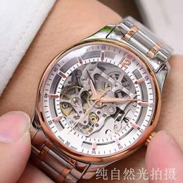watches luxury skeleton man Australia - High Quality Luxury Skeleton Mens Watch 4813 Automatic Mechanical Movement Sapphire Glass Man Business Casual Designer Watches Male Clock