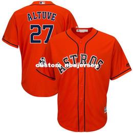 $enCountryForm.capitalKeyWord Australia - Cheap Custom Jose Altuve #27 World Cool Base jerseys Orange Stitched Retro Mens jerseys Customize any name number