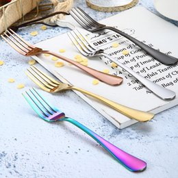 dinnerware set children 2019 - New fashion 1set=4pcs stainless steel cutlery knife fork spoon western steak Dinnerware Sets cutlery child tablewareT2I5