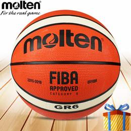 Venta al por mayor de Baloncesto fundido pelota tamaño 6 hombre mujer GR6 entrenamiento juegos profesionales calle basquete ballls baloncesto # 15314