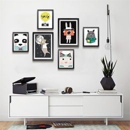 kids room wall art quotes 2019 - Modern Nordic Cartoon Animals Quote Art Posters and Prints Wall Art Canvas Painting Pictures For Kids Room Home Decor di