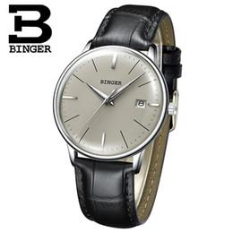 Wrist Watch Binger Australia - Switzerland BINGER Sapphire Wrist Watch Male Waterproof Mechanical Watch Men Brand Luxury Men's Automatic Watches Reloj Hombre