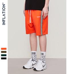 Wholesale side stripe shorts for sale – dress Inflation Mens Sportswear Side Stripe Contrast Color High Street Vintage Men Loose Cross Shorts s S19715