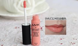Lipstick Nyx Long Lasting Matte NZ - New Matte Lip Cream Lipstick NYX Makeup Charming Long-lasting Daily Party Brand Glossy Makeup Lipsticks Lip Gloss Color: 12 colors