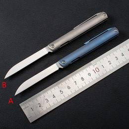 High Quality Knife Titanium NZ - High Quality creative personality mini Folding cuchillo S35VN pocket knife Titanium alloy ganzo stone wash handle tactical knife