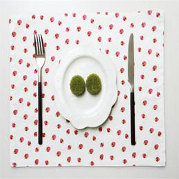 $enCountryForm.capitalKeyWord Australia - 5pcs 30*45cm New design printed cotton tea towel, napkin, table mat, tablecloth simple modern napkin cloth