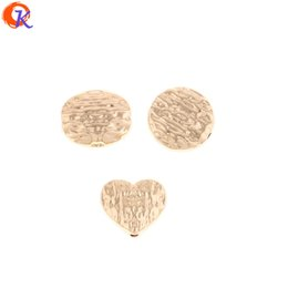 $enCountryForm.capitalKeyWord UK - wholesale 100Pcs Jewelry Accessories Earring Connectors Flat Coin Heart Oval Shape DIY Beads Hand Made Earring Findings