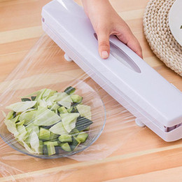 food wax paper UK - Preservative Film Cutter High Quality Plastic Food Wrap Dispensers Seal Aluminum Foil Wax Paper Cutter Kitchen Cutting Tools